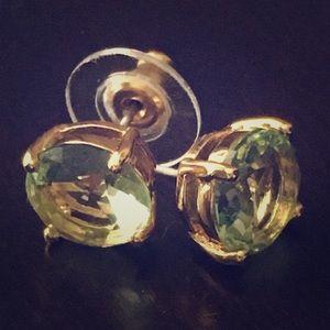 Kate Spade light green stone & gold studs